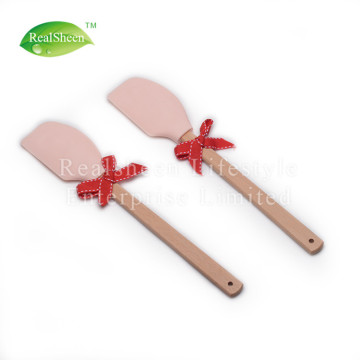 Silicone Butter Spatula With Rubber Wood Handle