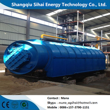 Waste tyre circulation to fuel pyrolytic machine
