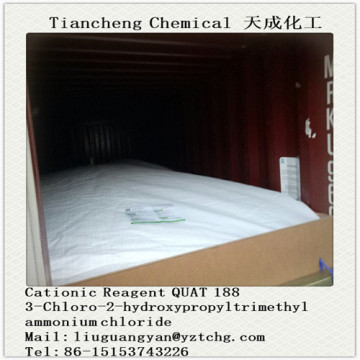 QUAT 188 CATIONIC REAGENT 69% ACTIVE(3-CHLORO-2-HYDROXYPROPY L TRIMETHYL AMMONIUM CHLORIDE)