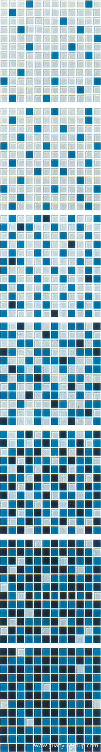 Blue Gradual Change Glass Mosaic