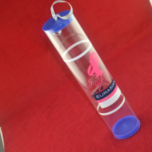 Customized clear plastic tube packaging for hair extension