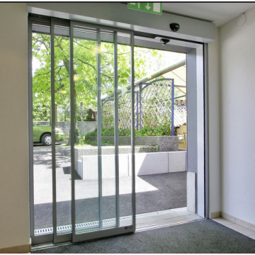 Automatic gate telescopic sliding door mechanisms