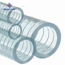 pvc flexible transparent wire spring reinforced hose pipe