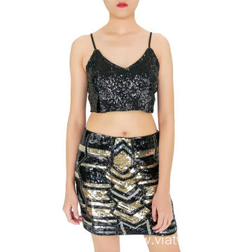 Weekend Party Sequin Mini Skirts
