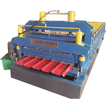 Glazed and trapezoidal double roll forming machine