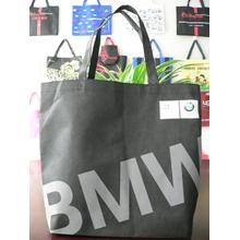 Fashionable logo design black non woven advertising bag