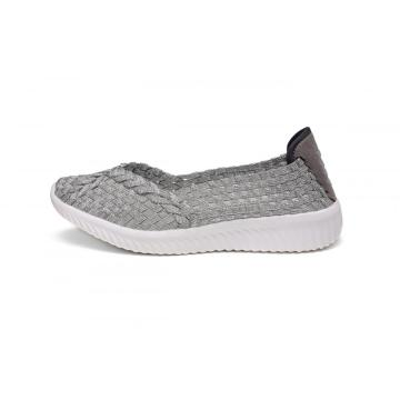 Best Price for for China Womens Woven Flats,Flat Shoes For Women,Ladies Flat Shoes,White Flat Shoes Supplier Silver Fashion Lightweight Anti-skid Woven Pump export to South Korea Manufacturer
