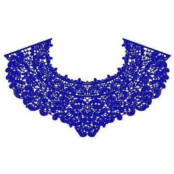 Beautiful blue neckline for dress