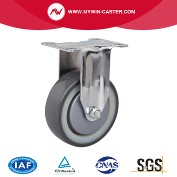 Chrome 4 Inch 130Kg Rigid TPU Caster