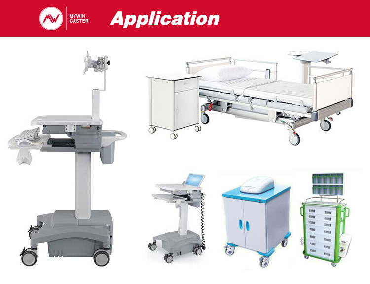 castor for medical appliance