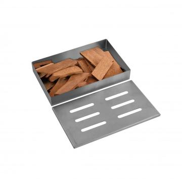 smoker box for barbecue grid wood chips