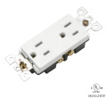 HJ-8047TR Double Wall Socket 15A/120V TR Clip Wiring