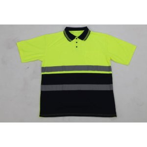 Free sample for Knitting Reflective Garments reflective saftey high vis polo shirt supply to Uruguay Suppliers