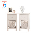 white modern wood bedside table bedroom cabinet and drawers