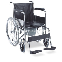 Commode Foldable Wheelchair kwa Disable na Wagonjwa