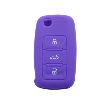 Hot sale for Supply Volkswagen Silicone Key Cover, VW Silicone Key Fob Cover, VW Silicone Key Case from China Manufacturer VW Skoda Rubber Car Key Cover export to Netherlands Supplier
