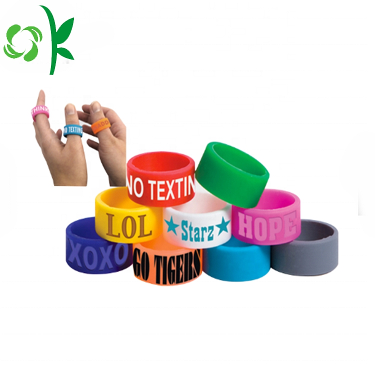 Green Silicone Engraved Ring