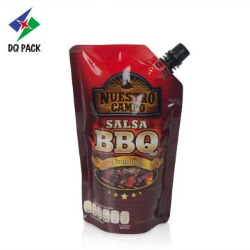 BBQ sauce plastic packaging bag with printing