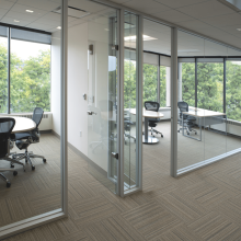 sound proof glass conference room partition