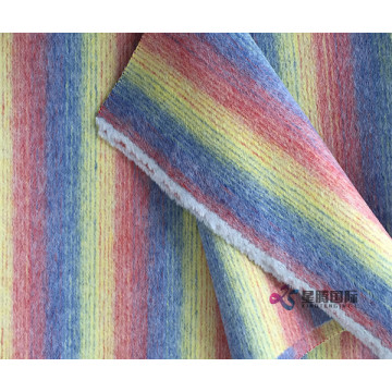 High Standard 100% Wool With Colorful Stripe