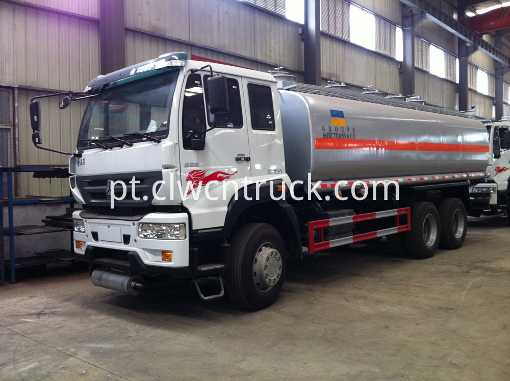 gasoline transport tank truck
