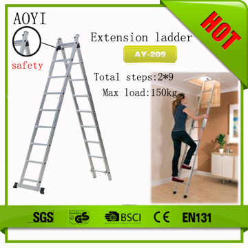 2x9 steps section extension ladder