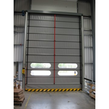 Stacking Up Opening Large PVC High Speed Door