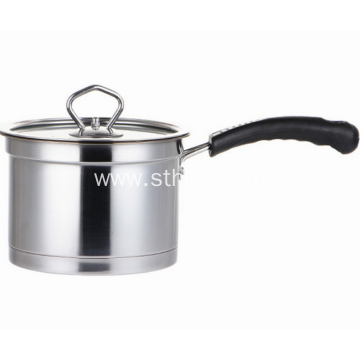 Double Bottom Stainless Steel Right Angle Milk Pot