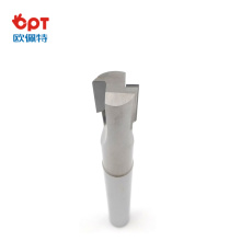 PCD end mill keyway cutter CNC hardness