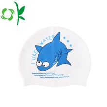 Silicone Children Swim Cap Printed Cartoon for Kids