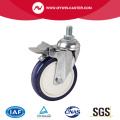 Chrome 6 Inch 130Kg Threaded Brake TPU Caster