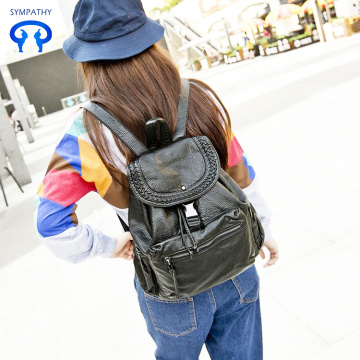 New style backpack washing leather soft leather