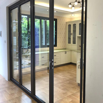 Lingyin Construction Materials Ltd Fashion Aluminum Glass Folding Interior Apartment Door For Sale