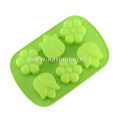 6 Cavity Silicone Flower Soap Cupcake Molds