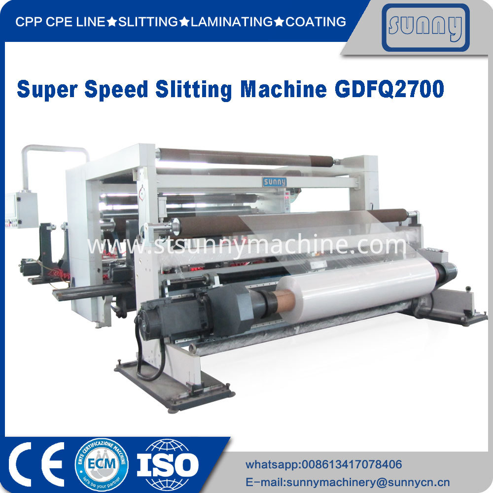 Super Speed Slitting Machine Gdfq2700 05