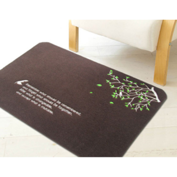 Embroidery carpet mats embroid pattern pvc door mat