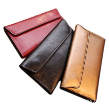 New Fashion Design for Bifold Pocket Wallet RFID Blocking Bifold Wallets Leather for Woman export to Venezuela Factory