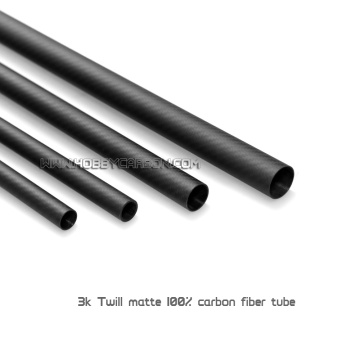 5x3x1000mm 3K Twill/Plain Roll Wrapped Carbon Fiber Tubes