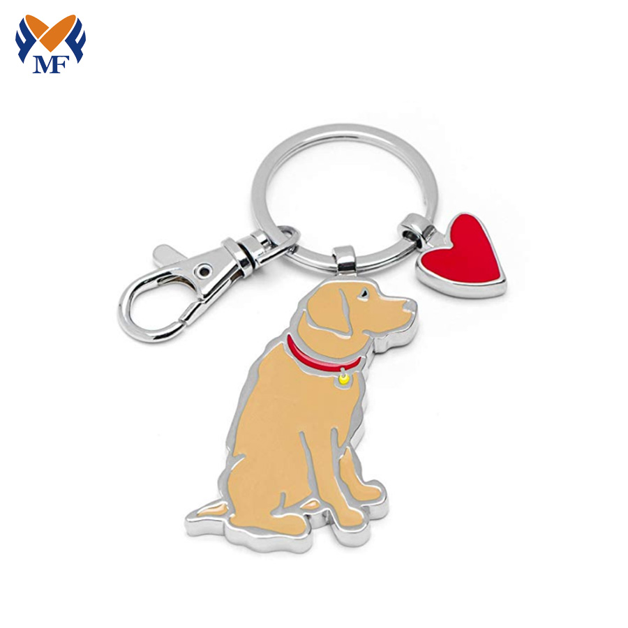 Metal Keychain Dog