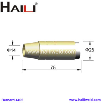 "4492 Brass Tapered Nozzle 9/16"" for Bernard"