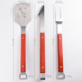Red Handle BBQ Stainless Steel Tool Set