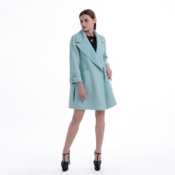 Fashion Lapel cashmere overcoat