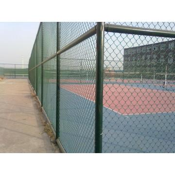 pvc coated used decorative chain link fence sale