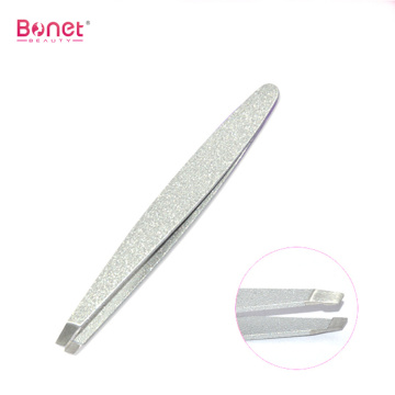 Fashion shinny silver coating high precision tweezers