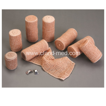China Manufacture 80% Cotton Bandage Skin Color Elastic Crepe Bandage