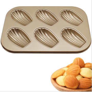 Bottom price for Muffin Tray Madeleine 6pcs Shell Shaped Non-stick Cake Mould supply to Portugal Wholesale