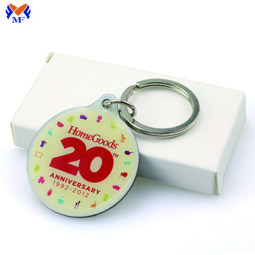 Metal printed keychain sticker keyring