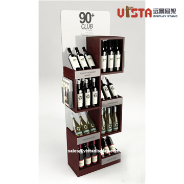 Good Quality MDF Red Wine Promotional Display Stands