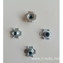M6X12 4 Prongs Zinc Plating Furniture Nuts