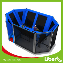 Outdoor trampoline park with foam pit